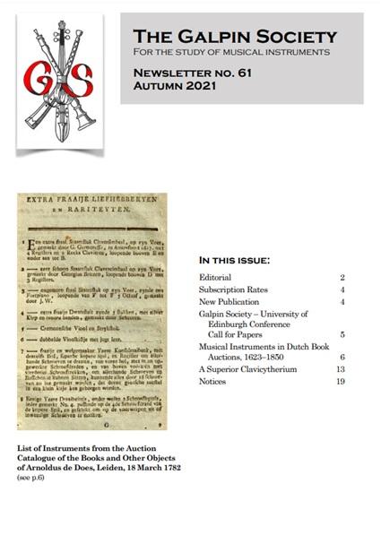 Nové číslo: Galpin Society Newsletter